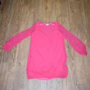 Pink split sleeve Tobi Dress